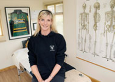 Vicky Clarke specialises in sports injuries
