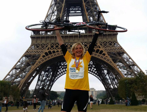 Vicky Clarke completing London to Paris